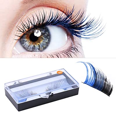 Cils Extension Eye Dense Lashes Étape 3d Faux Halloween Couleur trdhQs