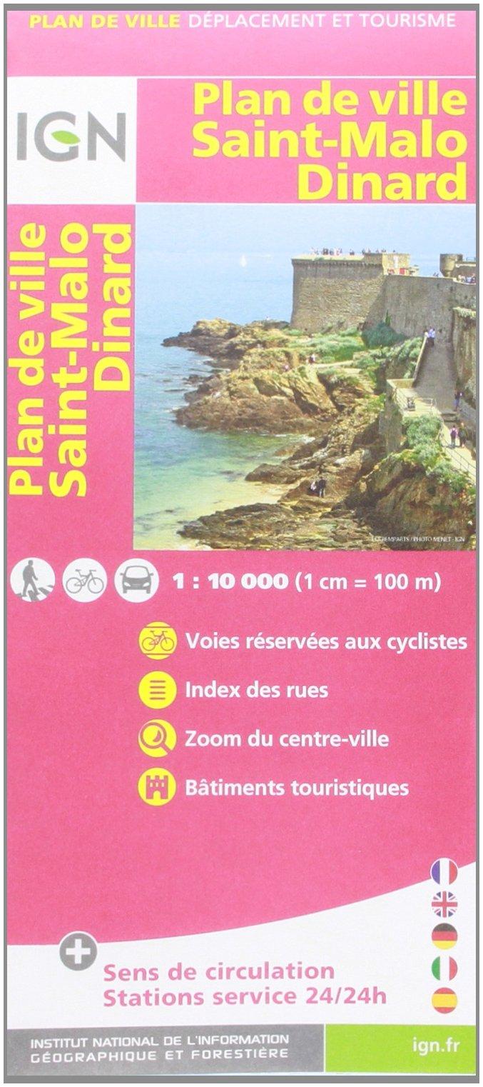 72545 PLAN DE SAINT-MALO/DINARD SANS LIVRET 1/10.000 Carte – Carte pliée, 4 février 2014 IGN 2758531372 Karten / Stadtpläne / Europa Frankreich