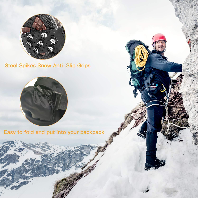 Crampons pour Alpinisme Randonnées Marche Acier sans Soudure