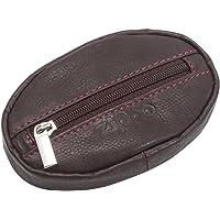Zippo - Bolsa de Cuero para Monedero con Cremallera para Hombre y Mujer, Color marrón, 100 cm