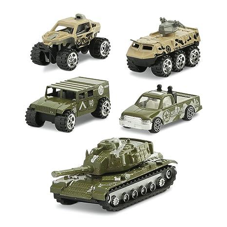 Juego Tanques Y Carros De Combate Camiones De Juguete Multicolor