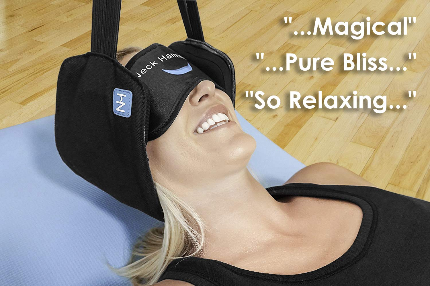 The Neck Hammock 2.0 - The Original Portable Cervical Traction and Relaxation Device. Easily Attach to Any Door or Railing for Chronic Neck Pain Relief in 10 Minutes or Less by The Neck Hammock (Image #3)