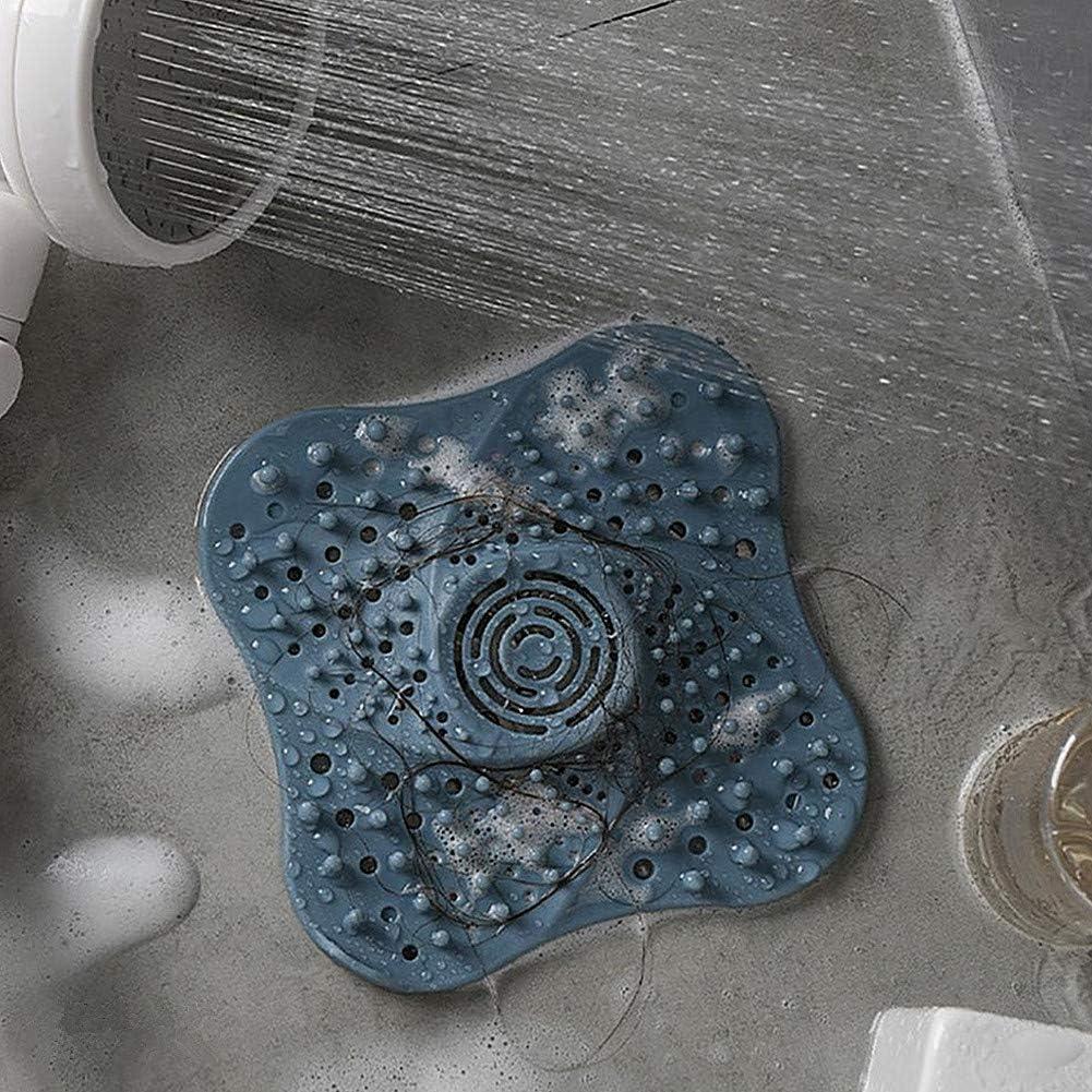 MOPKJH drain cover bath plug plug hole hair catcher sink strainer for kitchen kitchen sink strainer shower drain cover hair catcher blue