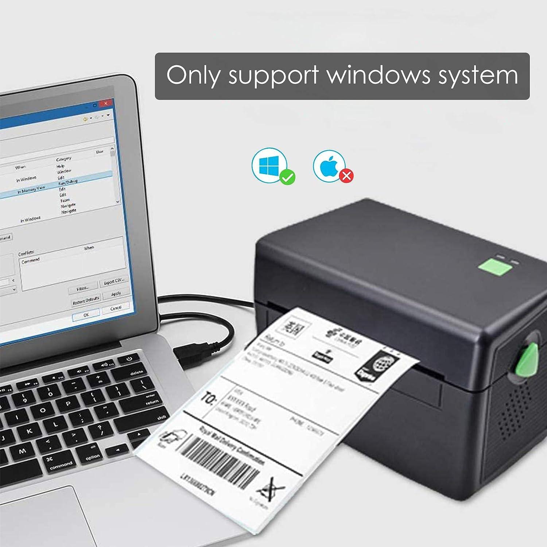 8 Impresora t/érmica 4x6 Compatible con Windows XP TTLIFE Impresora t/érmica de Etiquetas de Escritorio 10 7 etiquetadora USB de Alta Velocidad con Unidad de Disco U y 50 Etiquetas