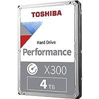 Toshiba X300 Desktop 3.5 Inch SATA 6Gb/s 7200rpm Internal Hard Drive 4 TB