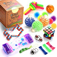 Sensory Fidget Toys Set, 25 Pcs., Stress Relief and Anti-Anxiety Tools Bundle for...