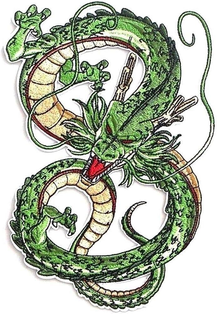 Main Street 24/7 Parche bordado de Dragon Ball Z Shenron Dragon de 8,25 pulgadas de alto, para planchar