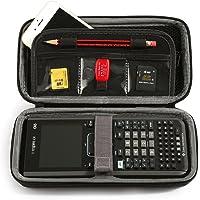 Boîte de protection portative LuckyNV pour Texas Instruments TI-Nspire CX CAS Calculatrice graphique et poche filet et espace supplémentaire pour carte mémoire, stylo et accessoires