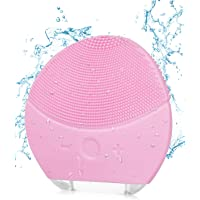 IFORU Cepillo Facial de Silicona, Limpiador Facial Ultrasónico Eléctrico USB, Masajeador IPX7 Impermeable Limpieza Profunda de Cara, Cepillo Limpieza Facial para Zona en T, Nariz, Mejillas, etc.