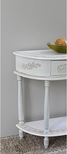 International Caravan Furniture Piece Carved Half Moon Wall Table