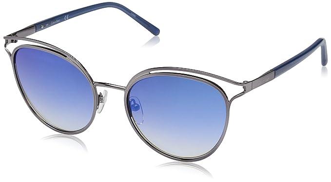 foto ufficiali f8518 737bf Calvin Klein Occhiali da sole CK2158S 046 blue/silver donna ...