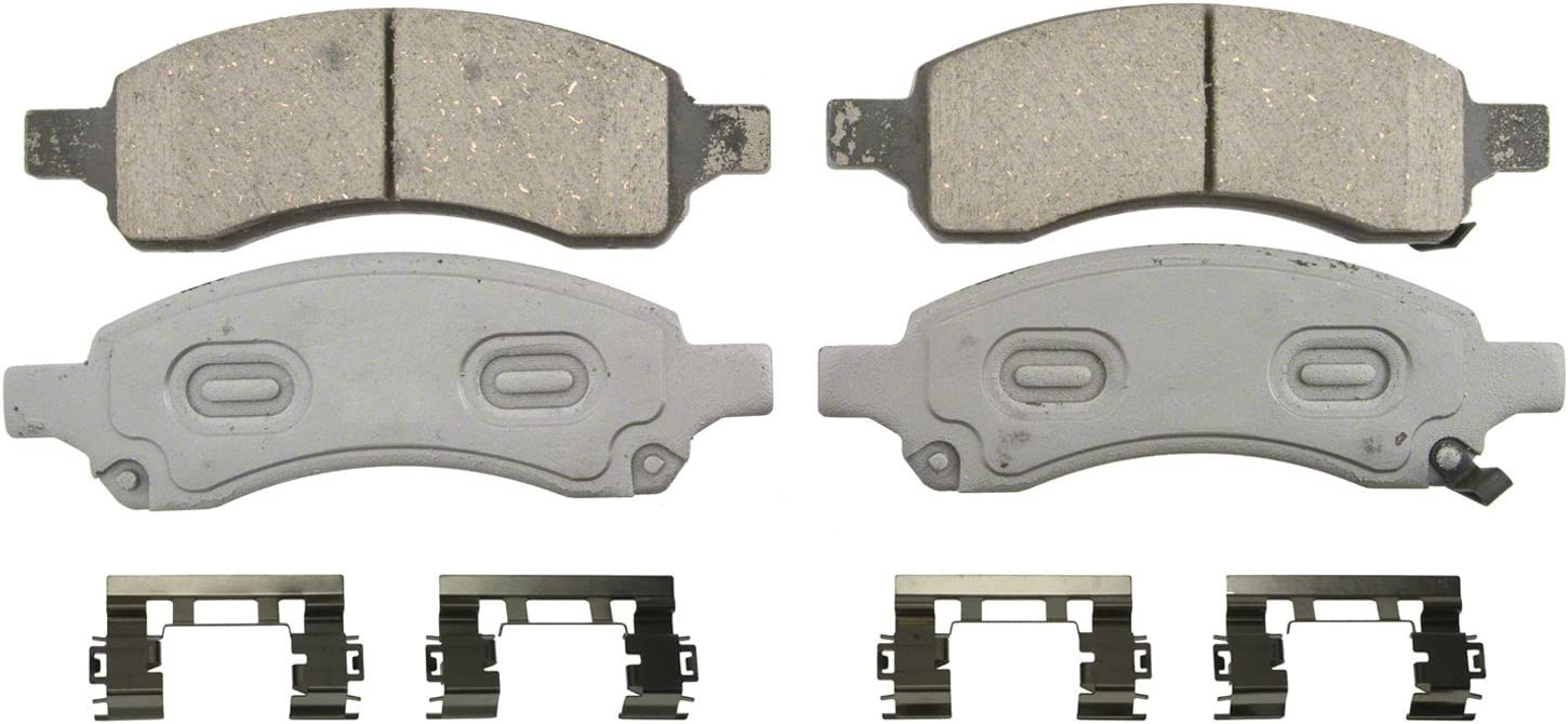 Front Wagner ThermoQuiet QC1169A Ceramic Disc Pad Set With Installation Hardware