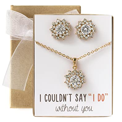 jewellery message gift image choker itm loading favour is card on pearl s necklace bridesmaid