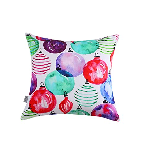 Amazon.com: Sara B. Ornaments - Almohada cuadrada decorativa ...