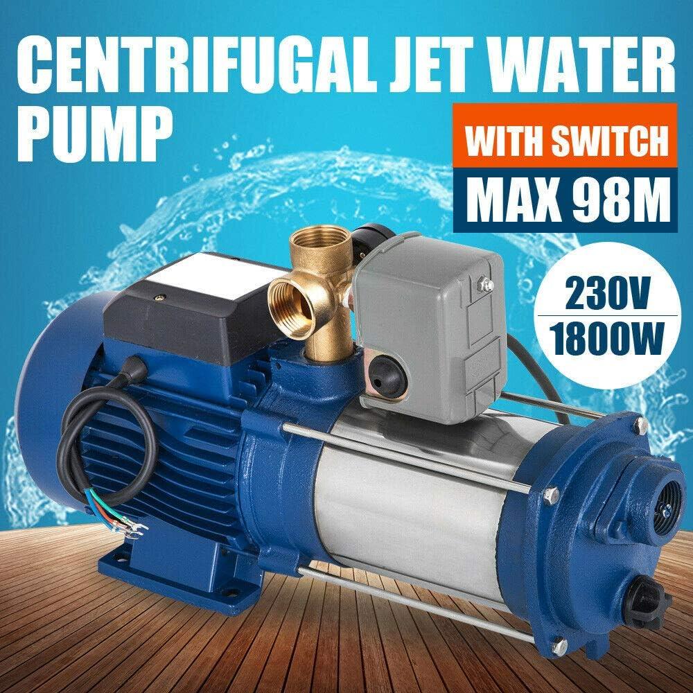 DIFU Bomba centrífuga de 1,8 kW, potente bomba de agua + ...