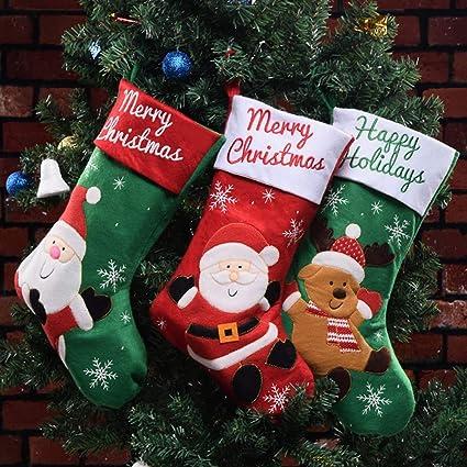 Ecent Calcetines Navidad Decoracion Medias de Navidad