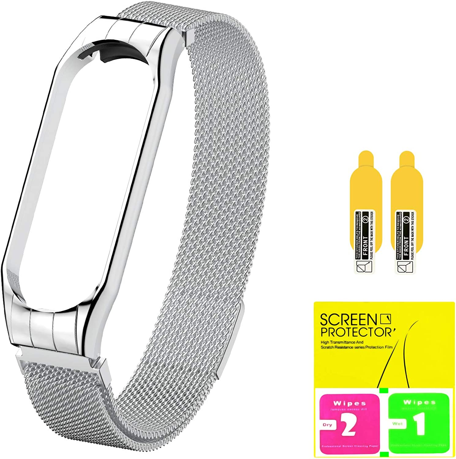 Stainless Steel Band Strap with Screen