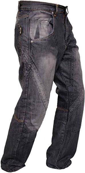 Camo Cargo, W44 - L32 Mens Motorbike Motorcycle Padded Safety Protective Lining Camo Cargo Trouser Jean Pant 6 Pocket with Padding