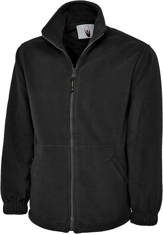 Uneek Clothing Mens Premium Full Zip Fleece Jacket Large Black