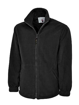Uneek Clothing-mens-Classic Full Zip Micro Fleece Jacket-300 gsm-Black