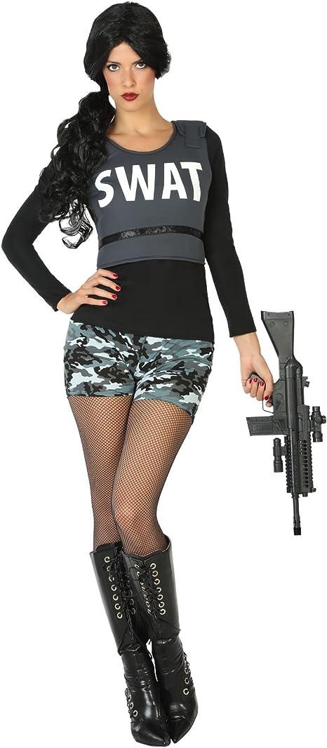 Atosa Disfraz de Policía SWAT para Mujer: Amazon.es: Juguetes y juegos