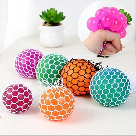 Novedad malla Squishy bola para anti estrés Squeeze bola de uva aliviar la presión pelota de