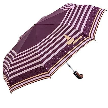 DYEWD Paraguas,Paraguas de plástico Negro, Paraguas de Sol de Verano para Mujer,