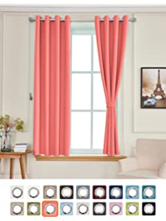 yakamok light blocking darkening thermal insulated blackout curtains solid grommet top window