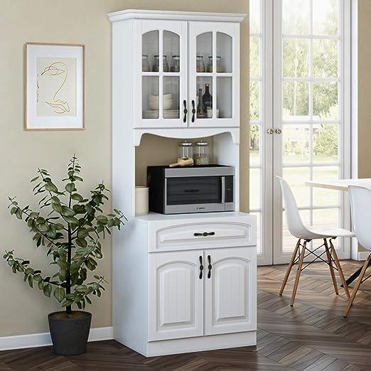 Armario de cocina con estantes de almacenamiento y soporte para ...