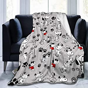 Snoopy Cozy Soft Flannel Blanket Luxury Bed Throw Blanket for Sofa Chair Bed for Couch Living Room