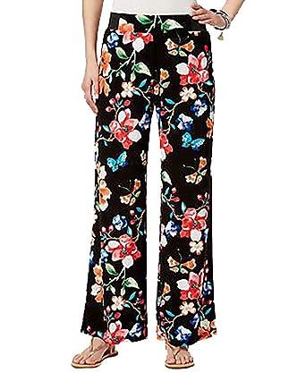559add746e INC International Concepts Petite Floral-Print Wide-Leg Pants (Butterfly,  PXS/