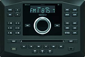 Jensen JWM62A AM|FM|DVD|CD|USB|AUX|App Ready Bluetooth Wallmount Stereo w/App Control, 3-Speaker Zones / 8 Speaker Output 8X 6 Watt, Receives Bluetooth Audio (A2DP) & Controls (AVRCP) from Devices