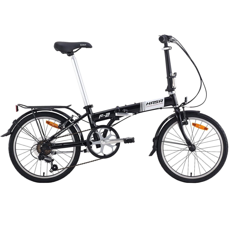 HASA 折りたたみ折り畳み式自転車Sramの6速 B00B1YJJZG  黒
