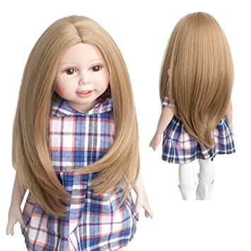 Amazon Com Wigs Only Popular Natural Light Brown Doll Wig American