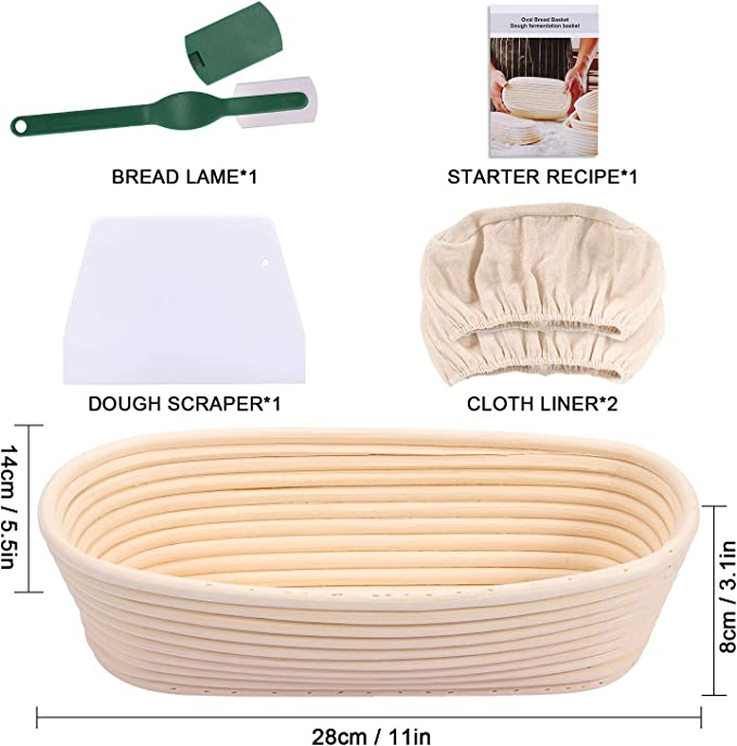 Details about  /Oval//Round gärkörbchen Bread Dough gärkörbe Basket Bread Form peddigrohr DE show original title