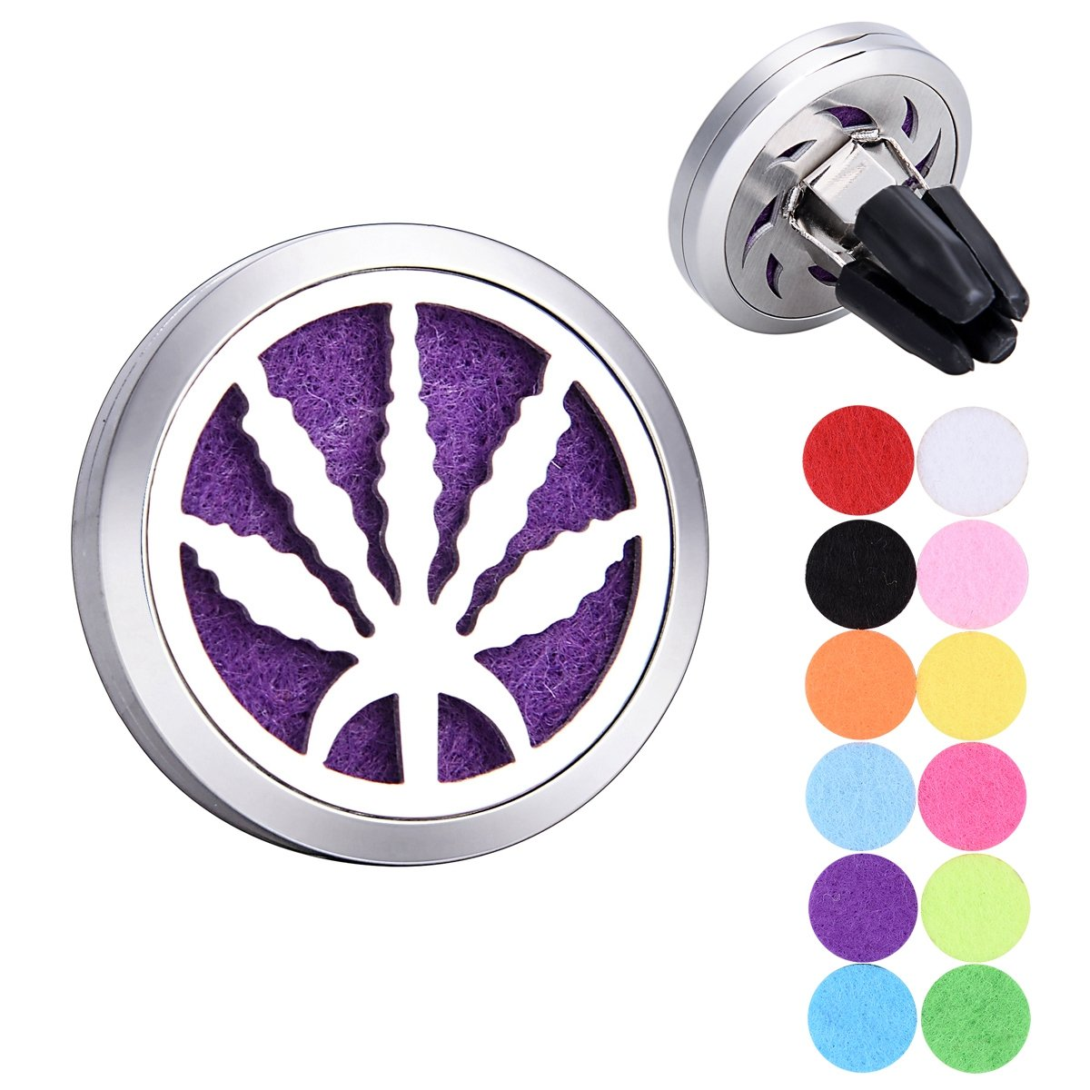Hemp Leaves Aromatherapy Essential Oils Car Diffuser Stainless Steel Locket Supreme glory