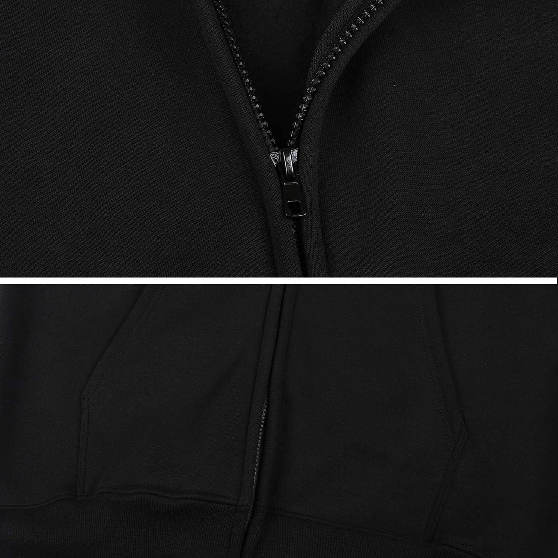URTEOM Womens Full Zip Hoodies Long Sleeve Pockets Sport Outwear Casual Sweatshirts