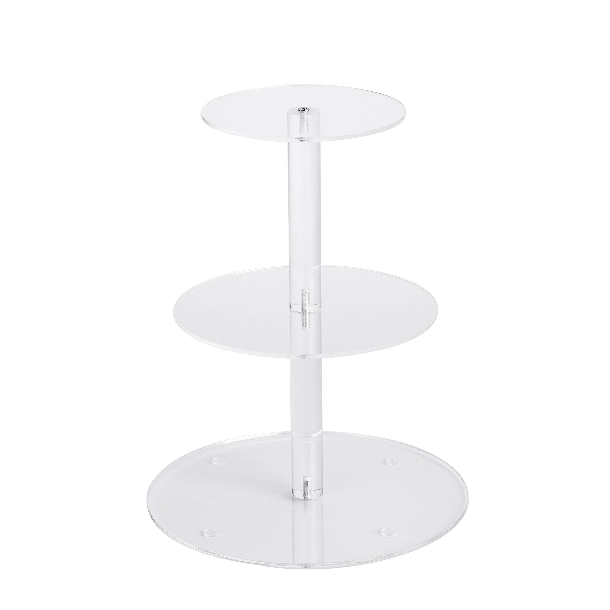 YestBuy 3 Tier Round Wedding Party Acrylic Cake Cupcake Tree Tower Maypole Display Stand 1 pc /Pack (3 Tier Round(6'' between 2 layers))