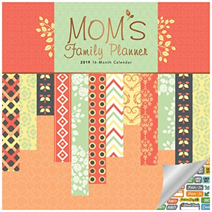 photo about Family Planner Calendar identified as Mothers Relatives Planner Calendar 2019 Mounted - High-class 2019 Mothers Relatives Planner Wall Calendar with About 100 Calendar Stickers (Mothers Relatives Planner Presents,