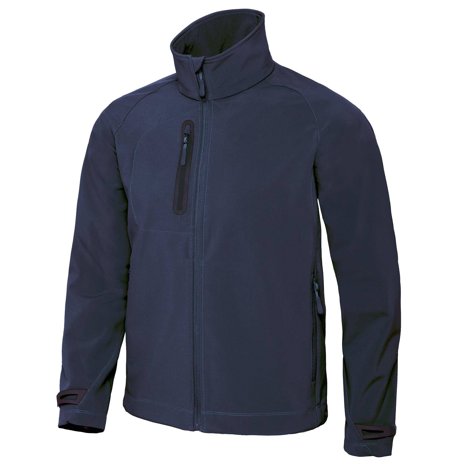 Men's Light Softshell Jacket by B and C Collection - Navy - S