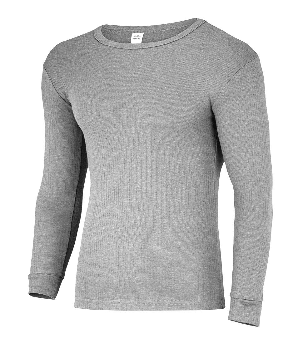 Herren Thermo Langarm Hemd, gerippt, aus atmungsaktiver Baumwolle