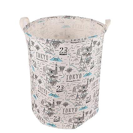 Cestas de almacenamiento, Lona impermeable sábanas ropa de lavandería cesta de almacenamiento cesta plegable caja