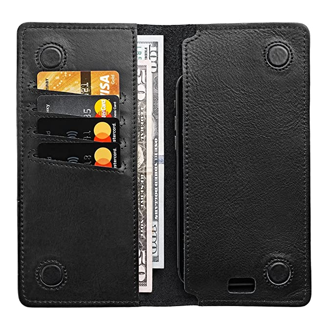 970cefcf2a07c Leather Travel Wallet - Phone Pocket - Long Bifold Wallet Men
