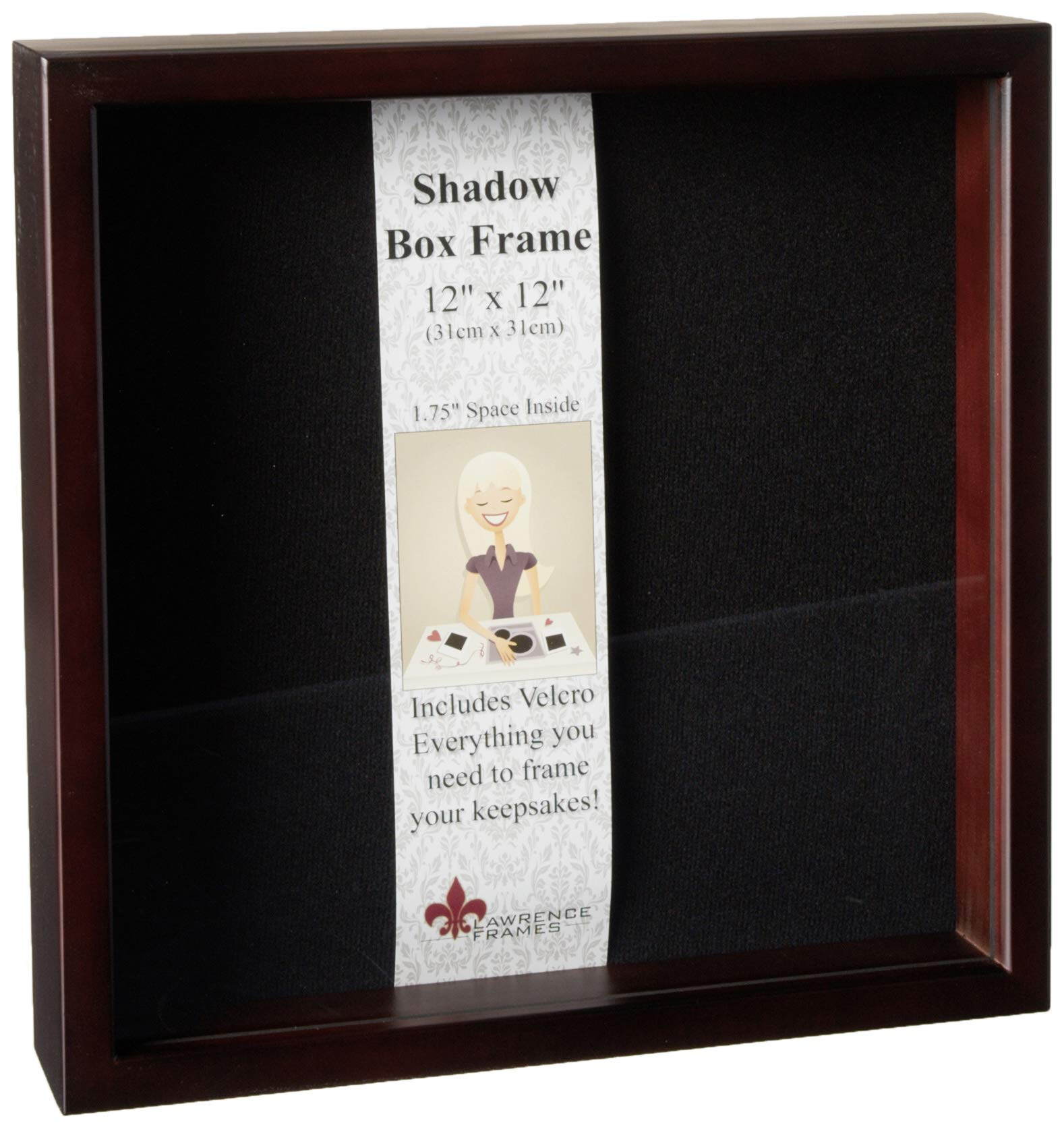 Lawrence Frames 790112 Espresso Wood Shadow Box Picture Frame, 12 by 12-Inch by Lawrence Frames