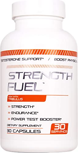 Strength Fuel Male Enhancing Pills – Enlargement Booster for Men – Increase Size, Strength, Stamina – Energy, Mood, Endurance Boost – All Natural Performance Supplement – 90 Caps Manufactured USA