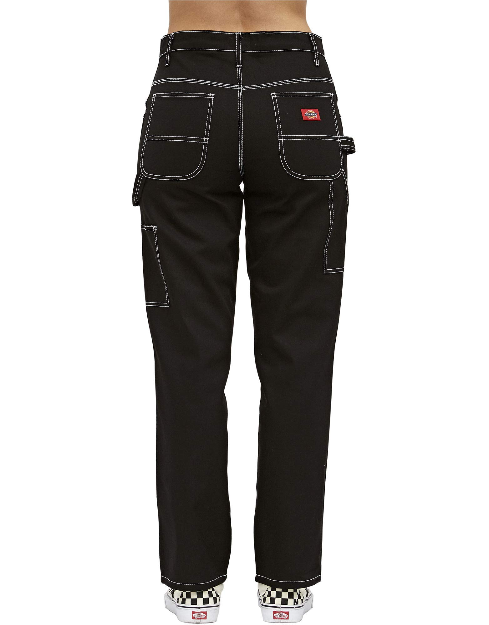 Dickies Girl Juniors' Relaxed Fit High-Rise Twill Carpenter Pants (Black, 5) by Dickies (Image #2)