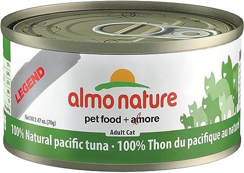 Almo 2.47 Oz Legend Pacific Tuna Canned Cat Food 24 Case , Medium