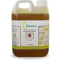 Lubrisolve Online Aceite de linaza - 100% Puro, Aceite de linaza prensado en frío - 2 litros