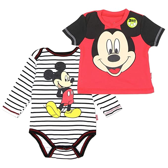 9f8433fe1670 Amazon.com  Mickey Mouse Baby Boys 2-Piece Set