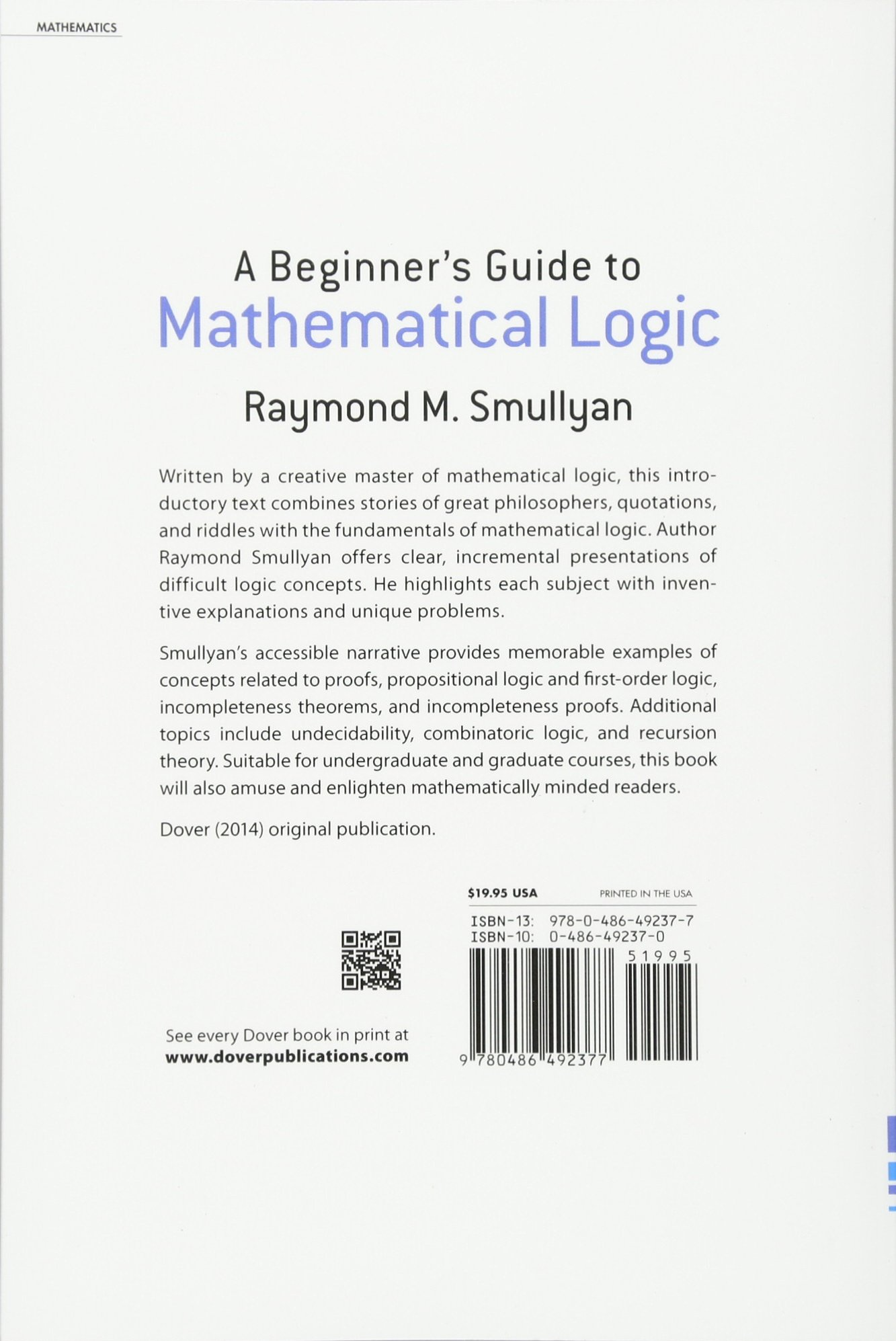 Mathematical Logic Books Pdf